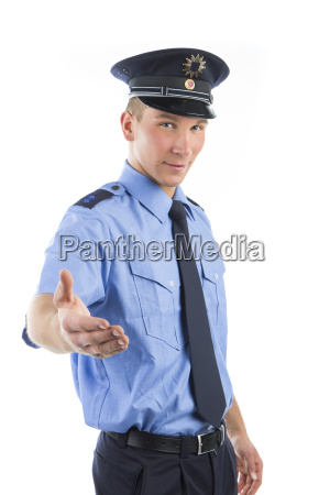 policja w mundurze