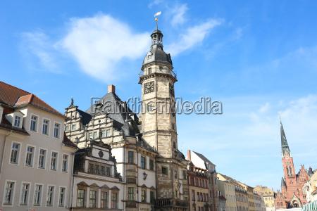 miasto grod town ratusz siodlo sitzplatz