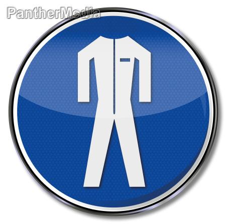 znak bezpieczenstwa odziez ochronna