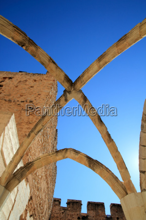 arches structure of ancient monastery in