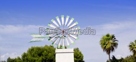 majorca white windmill in palma de