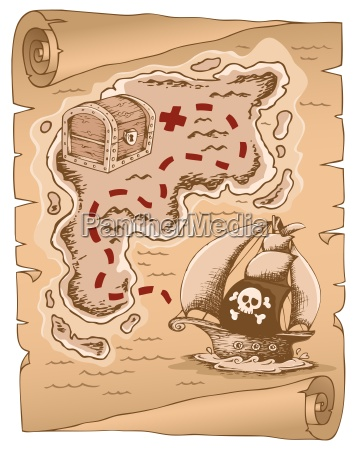 parchment with treasure map 1