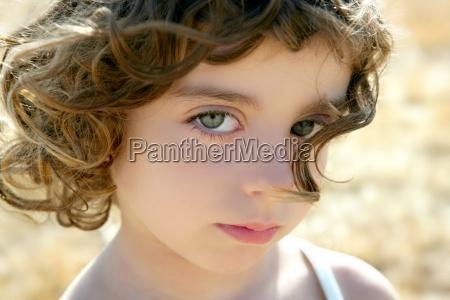 piękne, dziewczynka, portret, outdoo - 7072423