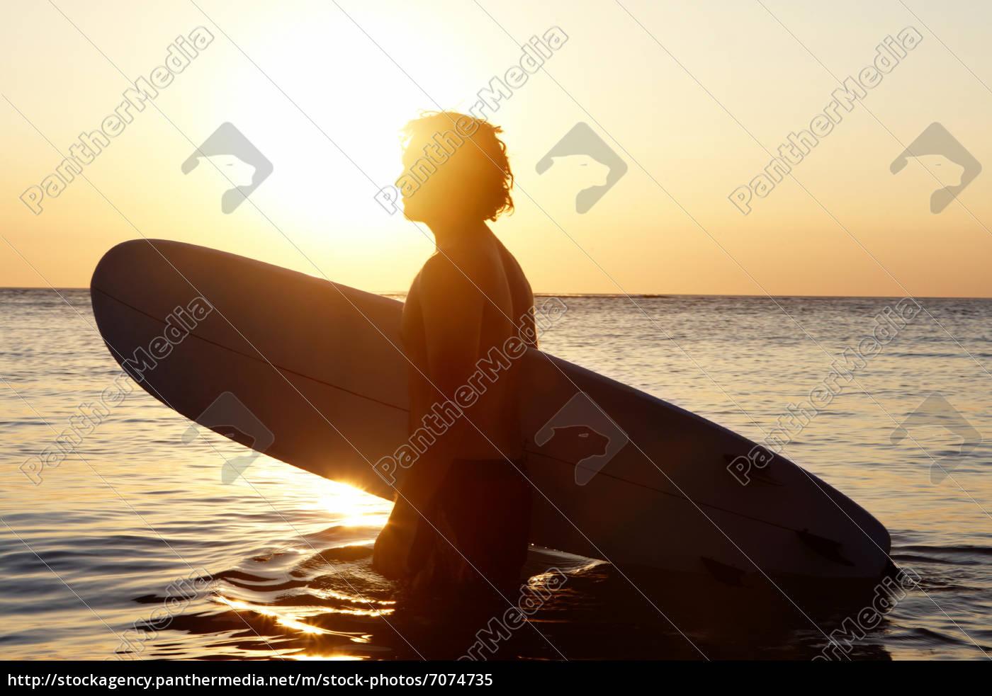 surfer, w, wodzie - 7074735