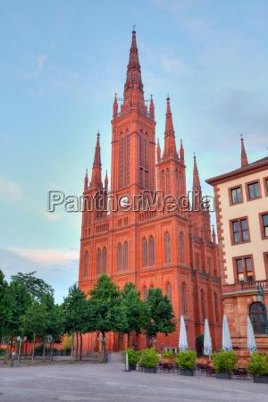 markt kirche in wiesbaden germany