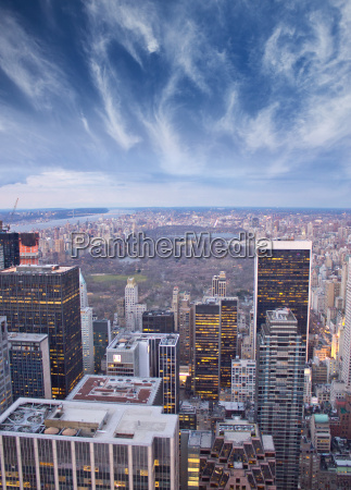 clouds over central park in new