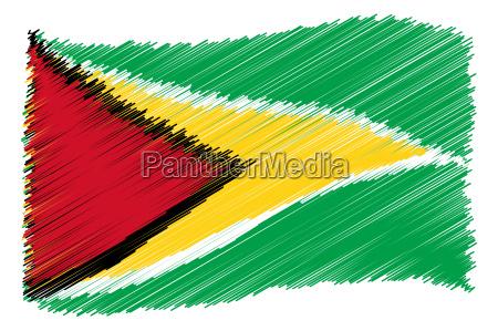 flaga bandera szkic fotografia obrazek ilustracja