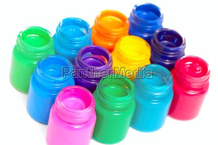 kolorowe kolektora malarstwo lak farby farbowanie