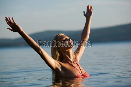 enjoying water