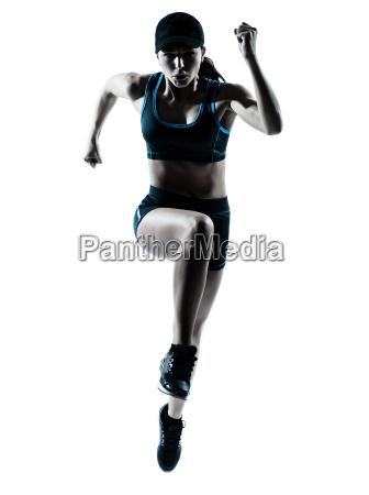 jogger biegacz kobieta skokow
