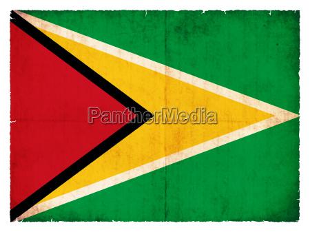 flaga bandera styl gujana dawne starzy