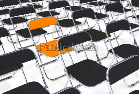 skladane krzeslo w partii czarny pomaranczowy