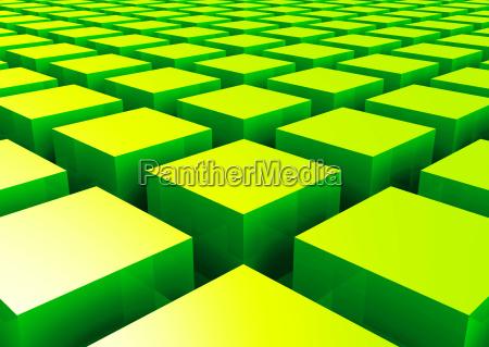 struktura 3d green square 2