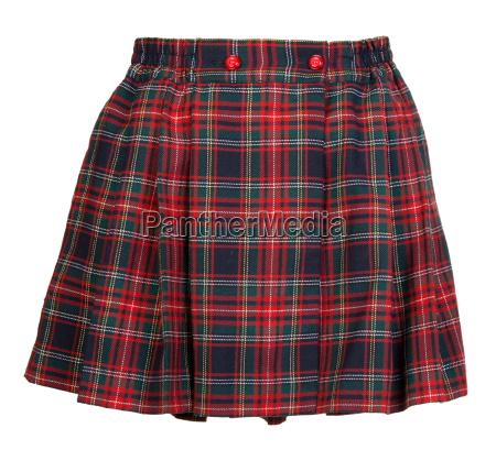 plaid czerwona kobieca spodnica