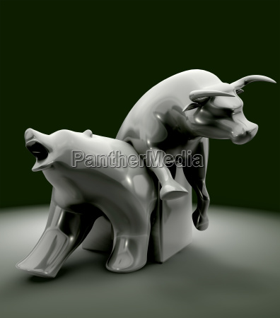 bull and bear gospodarcza trend statue