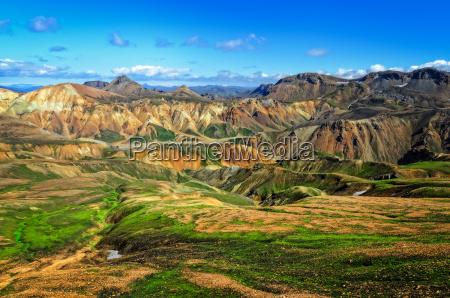 landmannalaugar kolorowych gor krajobrazowy widokiceland
