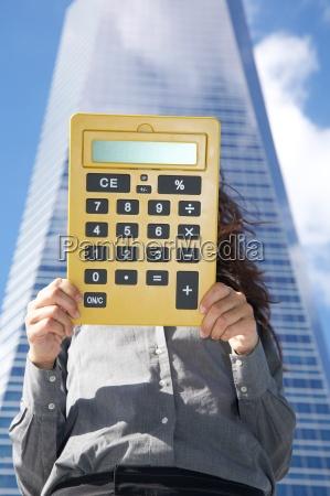 big calculator with blank screen