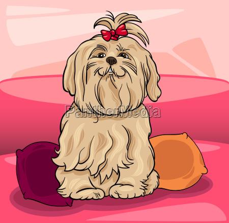 zwierze domowe kuscheltier pluszak pies ilustracja