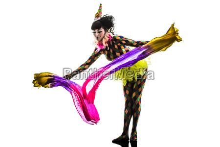 woman harlequin circus dancer performer