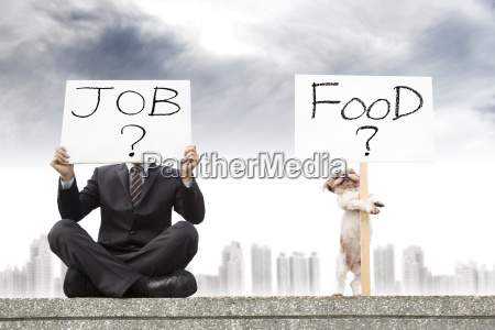 businessman looking for a job and