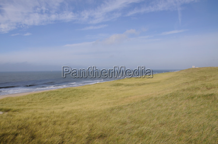 view over the dunes to westerland