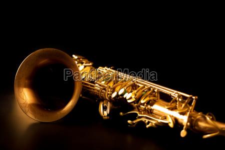 tenorsax goldenen saxophon makro selektiven fokus