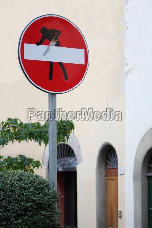 pilowanie pilowac ciac tarcza sygnal znak