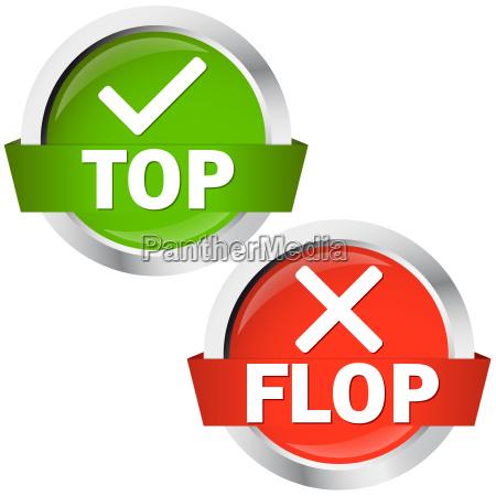 przyciski gora lub flop