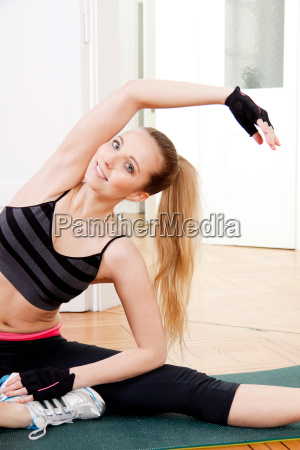 young attractive woman doing a workout