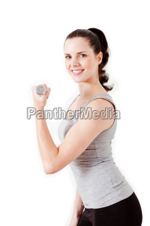 attractive young woman doing a workout