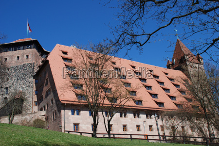 nuremberg, castle, kaiserstallung, fünfeckturm, luginsland, hostel - 9211390