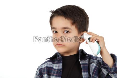 mezczyzna dziecko kontrolowania goraczka