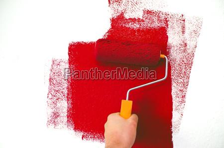 kolor renowacja remont farby dozownik czerwone