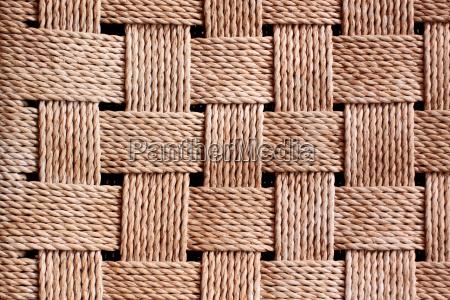 detailaufnahme szczegol mata dywan pleciony spleciony