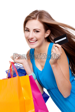 mloda atrakcyjna kobieta na bialym tle