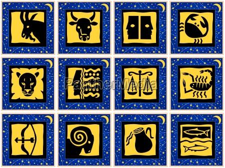 kwadrat horoskop zodiacsign czworokatny los wrozba