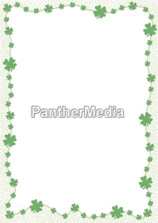 krawedz zielona koniczyna opuszcza odosobnione