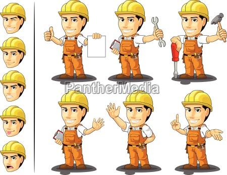 robotnik budownictwa przemyslowego mascot 2