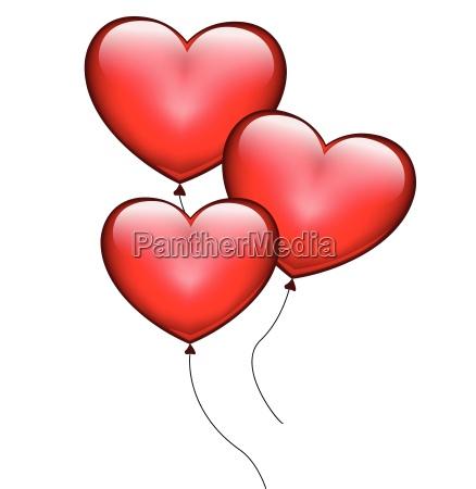 balony serca