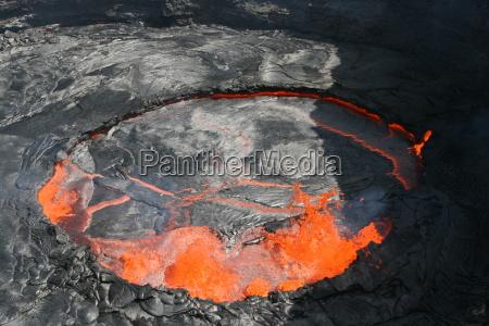 pustynia afryka lawa erupcja wulkanu wulkan