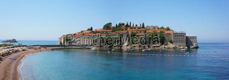 sveti stefan panorama view