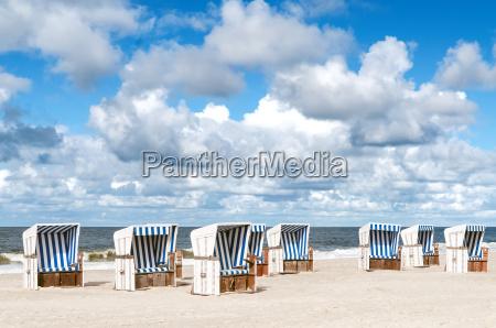 lezaki na plazy sylt