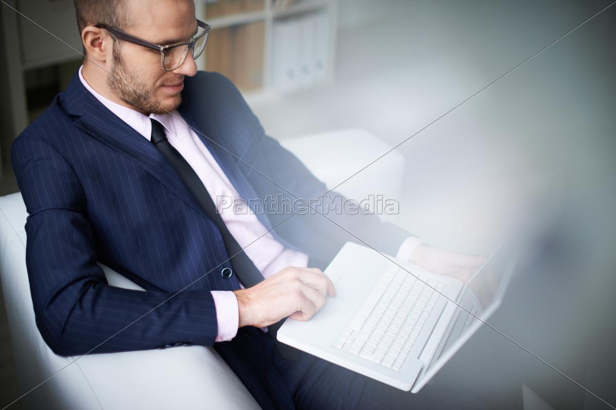 pisanie, biznesmena - 10039340
