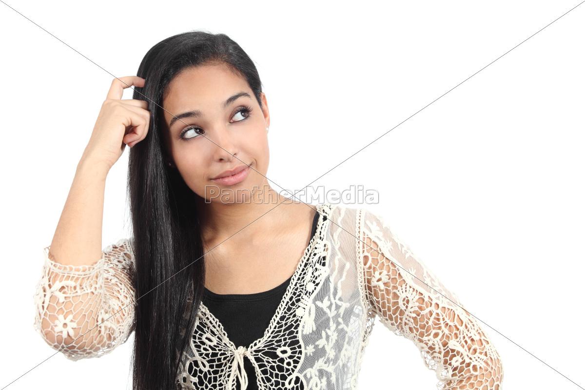 dość, arab, kobieta, z, wątpliwości - 10043748