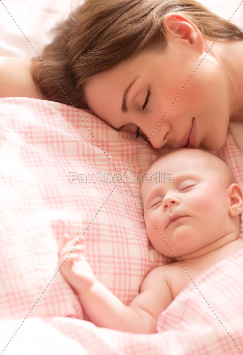 matka, z, dzieckiem, do, spania - 10055966