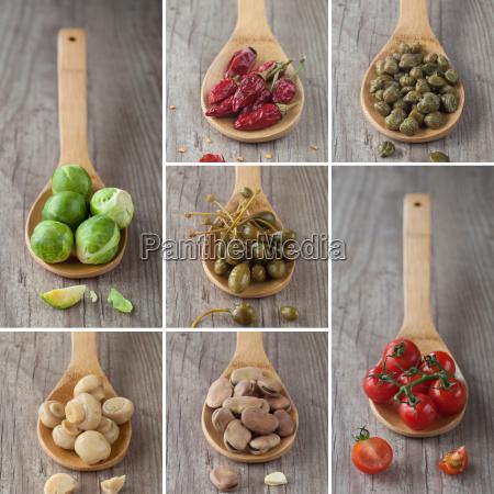 kolaż, warzyw, mieszanych - 10145813