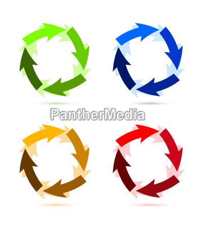 kolorowa, okrągła, strzałka - 10165753