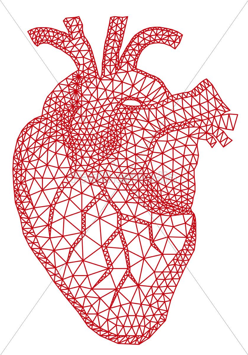 serca, z, geometrycznym, wzorem - 10188203