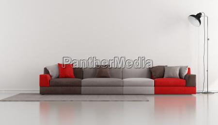 minimalistyczne salon z kolorowy nowoczesny