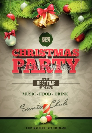 christmas, party, plakat - 10242533